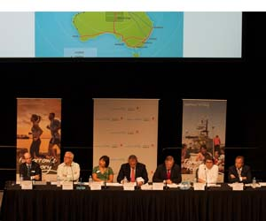 Vice-Chancellor Professor Simon Maddocks joined prominent industry, community and government representatives as part of Darwin's Regional Summit on Developing the North