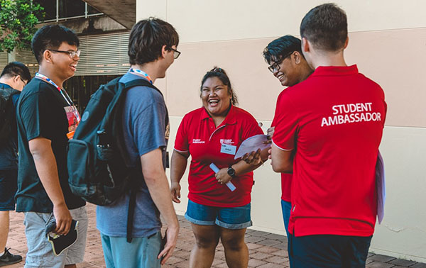 Students converged onto campus and were guided by CDU's student ambassadors