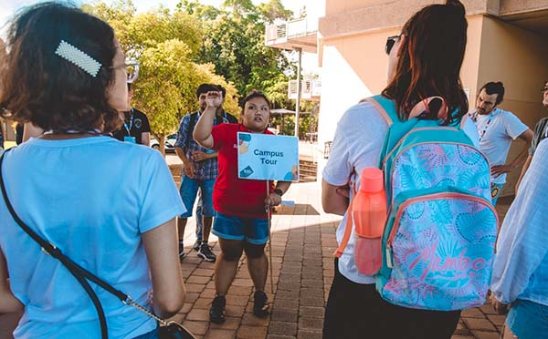 Students were guided by CDU's student ambassadors during the week