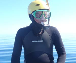 Sea turtle expert Dr Michael Guinea, who has spent the past two years researching the impacts of the 2009 Montara oil spill