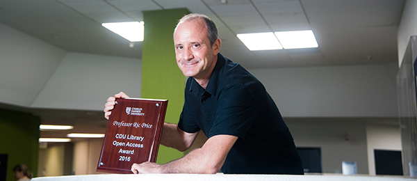 Professor Ric Price has won the CDU Library Open Access Award