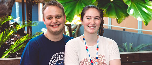 Darwin students Liam Meyer and partner Jess Lines have chosen different pathways to higher education at Charles Darwin University