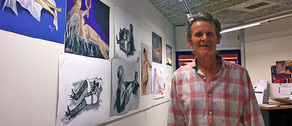 """Art lecturer Henry Smith: """"Life classes took a new approach this year"""""""