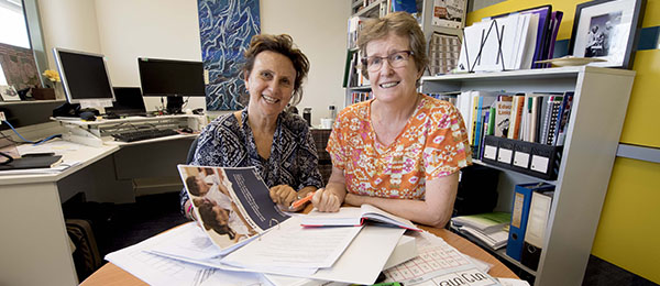 From left: Dr Michele Willsher and Professor Sue Shore