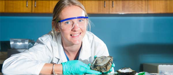 Shannon Burchert is investigating the quality of shellfish produced in a tropical rock oyster farming trial near Goulburn Island
