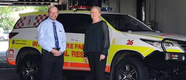 CDU Vice-Chancellor Professor Simon Maddocks and St John NT's CEO Judith Barker are excited to grow the NT's paramedic workforce