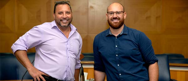 Community LegalEducator for the North Australian Aboriginal Justice Agency, James Parfitt-Fejo and CDU law Lecturer Ben Grimes are mentoring young Indigenous people through their legal training