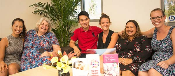 The team at the CDU Psychology Clinic (from left): Elissa Ricchetti, Associate Professor Suzanne Midford, Kyle Tsong, Emma Laughan, Lecturer in Clinical Psychology Dr Carmen Cubillo and Chloe Charltan.