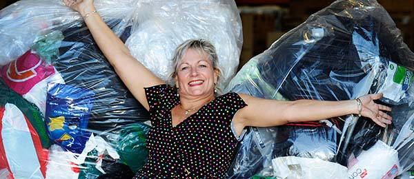 Esther Lloyd-Taylor organises a soft plastics recycling scheme at Casuarina campus. Photo: Clive Hyde