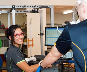 Final year Exercise and Sports Science student Sarah Guajardo has been working in the lab to provide further information to participants
