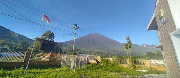 Rinjani in Lombok is one of Indonesia's 76 active volcanos