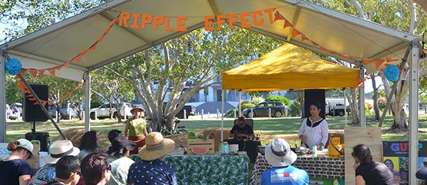 The Ripple Effect on display at the SeaBreeze Festival at Nightcliff foreshore.