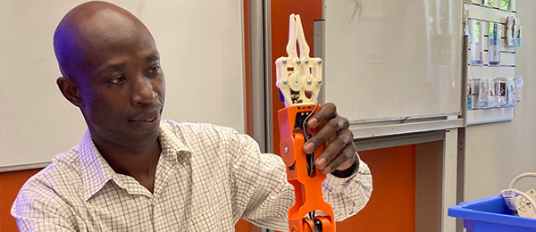CDU Lecturer-Engineering Mathematics Dr David Ompong sees a bright future in robotics