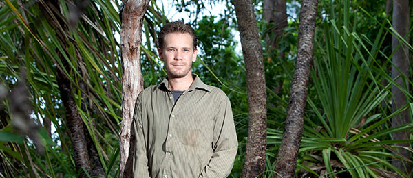 Charles Darwin University Fire Information Researcher Rohan Fisher is the leading researcher in the new mapping technology.