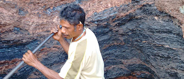 A manganese miner in West Timor