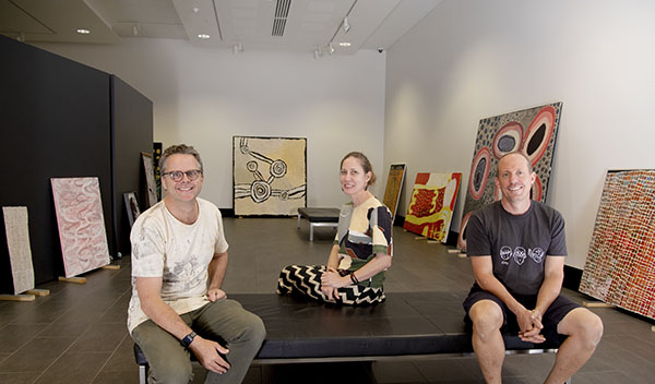 Paul Johnstone, Kellie Joswig and Matt Ward say the exhibition has become a must-see event