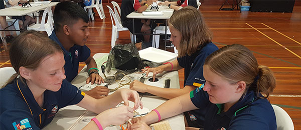 Students were highly engaged with activities at the Science and Engineering Challenge, a nationwide STEM outreach program.