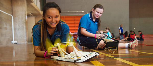 Good Shepherd Lutheran College students Tiffany Tran (left) and Naomi Mears