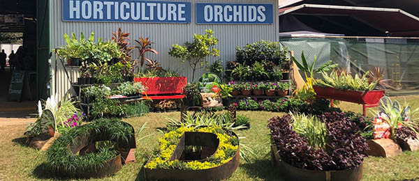 The display in front of the horticulture pavilion, prepared by VSS students