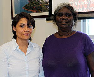 "Professor Marie Carla D. Adone and Dr Elaine Lawurrpa Maypilama … co-presenters of ""Alternate Sign Languages in Arnhem Land"""