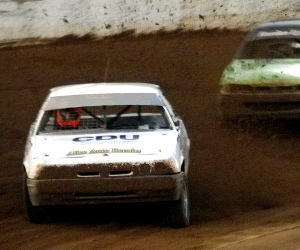 File photo: The CDU car racing in the street stock division at Arunga Park