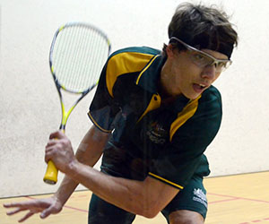 Australian squash champion Rhy Dowling encourages high school students who are interested in sport to enrol at CDU
