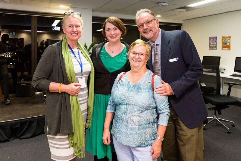Dr Ulrike Kachel, Anna Stack, Dr Marilyn Kell and Pro Vice-Chancellor (LEBA) Professor Peter Kell