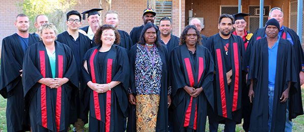 Staff and students celebrate the end of the academic year in Tennant Creek