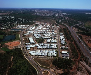 An impressive aerial view of The Heights, Durack