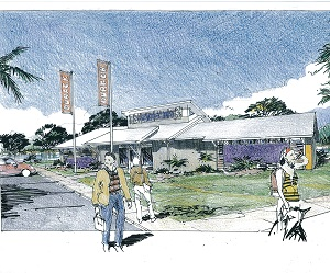 Artist's impression of the new neighbourhood centre at The Heights, Durack