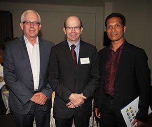 Australian Ambassador to Timor-Leste, His Excellency Mr Peter Doyle with Vice-Chancellor Professor Simon Maddocks and Rector at the National University of Timor-Leste, Professor Aurelio Guterres