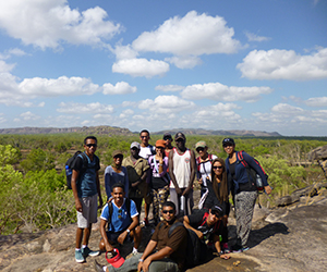 Timorese students visit Kakadu National Park during their trip to Darwin as part of the program