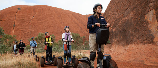 The program will involve face-to-face learning in the classroom, with practical assessments as well as field excursions to Uluru-Kata Tjuta National Park. Uluru Segway Tours ©Photo by Tourism NT