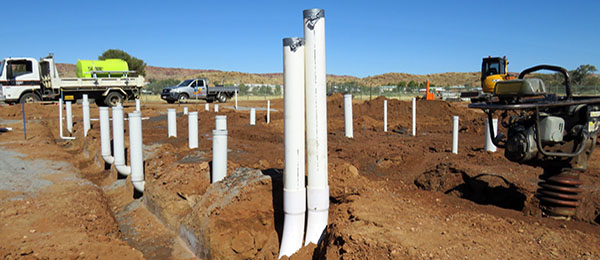 Foundational works are underway for the Trade Skills Centre in Alice Springs