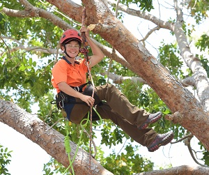 Arboriculture student Alana Murray won a Rookie Award at the recent competition