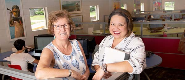 Dr Sue Shore and Research Project Officer, Hannah Taino-Spick are undertaking research to increase support for younger student veterans
