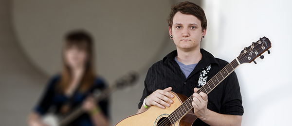 Micah Rothwell as a music student in Alice Springs