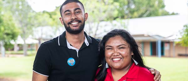 Suarav Kundu and Erilyn Cortez led students in a charity fundraiser