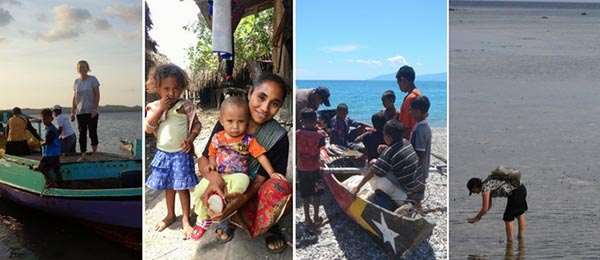 PhD candidates are investigating livelihoods and food security in remote parts of Indonesia and Timor-Leste, supervised by Associate Professor Natasha Stacey (pictured left)