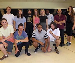 Participants at the song-making workshop … four songs in two days