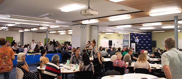 Community members gathered to hear inspiring stories and raise awareness about suicide at the World Suicide Prevention Day held at CDU's Casuarina Campus.