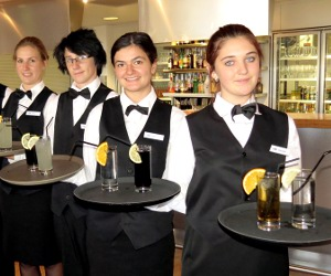 Skyla Stewart, Connor Jones, Eden Tohi and Ashleigh Owen at the food and beverage final in Alice Springs