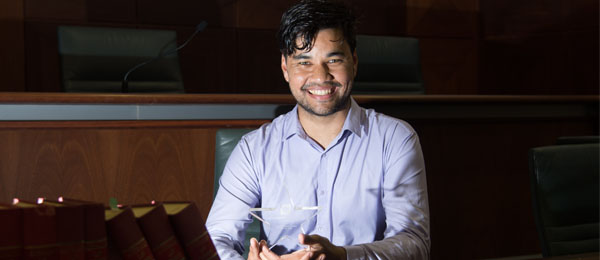 CDU law student Mark Munnich won the 2017 NT Young Achiever Award