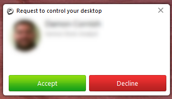 Jabber Request to control your desktop