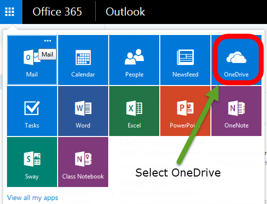 How do I access OneDrive 2
