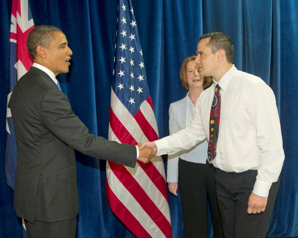 John Rawnsley with President Barack Obama