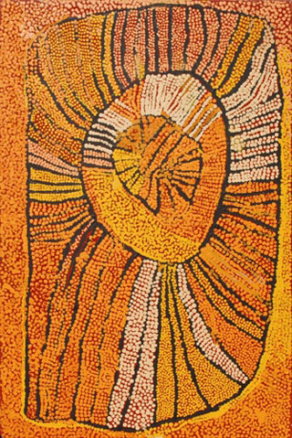 Naata Nungurrayi <br />Designs associated with the Rockhole site of Ngaminya 2007. Acrylic on linen, 91 x 61 cm. Purchased through the CDU Foundation for the CDU Art Collection, 2008 - CDU1547 <br />Image © the artist and courtesy Papunya Tula Artists Pty Ltd, Alice Springs