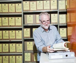 Dr Stephen Hamilton is working on the Arafura Research Archive spanning almost 100 years of NT history