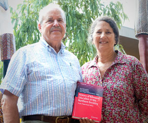 Dr Brian Devlin and Mrs Nancy Devlin (pictured) are co-editors of a book on NT bilingual education with fellow CDU researcher Dr Samantha Disbray