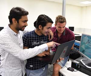 Students Farhan Khan, Aasish Adhikari and Xavier Thorbjornsen will take part in the Cyber Security Challenge Australia this week